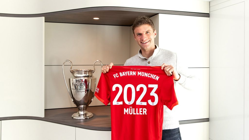 Thomas Muller extends his contract with Bayern